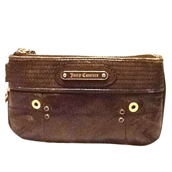 Juicy Couture Handbags - Juicy Couture Leather wristlet in Olive Green